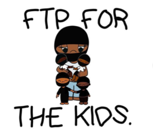 """Cover image """"FTP FOR THE KIDS"""" by @bbyanarchists on Instagram"""