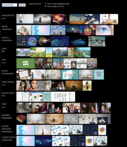 """Screenshot of search results from 'Image Atlas' for the term """"visualization""""."""