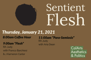 sentient flesh event flyer with dates and times found in longer post